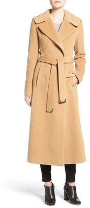 Women's Diane Von Furtstenberg Wool Blend Maxi Wrap Coat $598 thestylecure.com