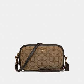 Coach Boxed Crossbody Clutch In Signature Jacquard