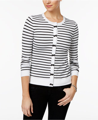 Charter Club Striped Bow-Trim Cardigan, Only at Macy's $39.98 thestylecure.com