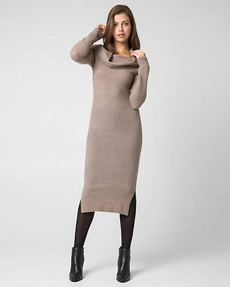 Le Château Boucle Knit Fold Over Sweater Dress