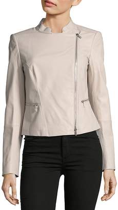 Lafayette 148 New York Women's Cropped Leather Jacket