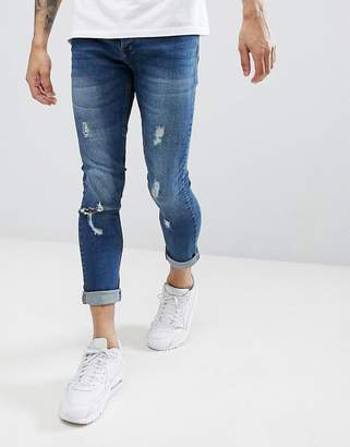 Brave Soul Fade Out Distressed Skinny Jeans