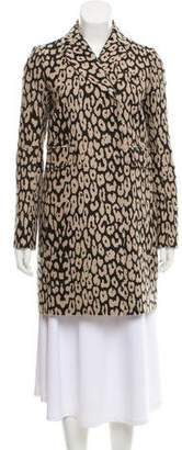 Gryphon Animal Print Knee-Length Coat