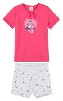 Schlafanzug kurz Vogel Baby-Pyjama Baby-Nachtwäsche NEU pink