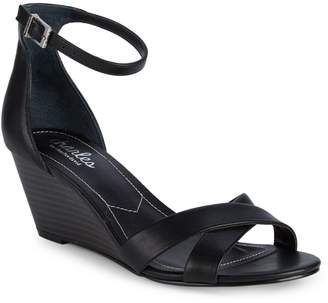 Charles by Charles David Griffin Faux Leather Ankle-Strap Sandal Wedges