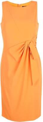 Paule Ka sleeveless ruched bow dress