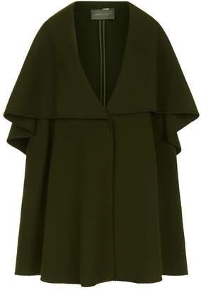 Alberta Ferretti Wool Cape Jacket