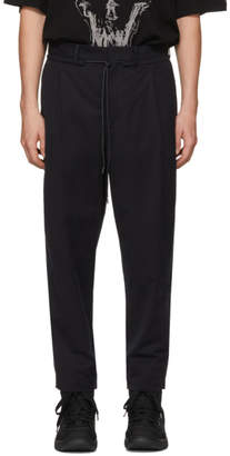 Diet Butcher Slim Skin Black Wide Tapered Trousers