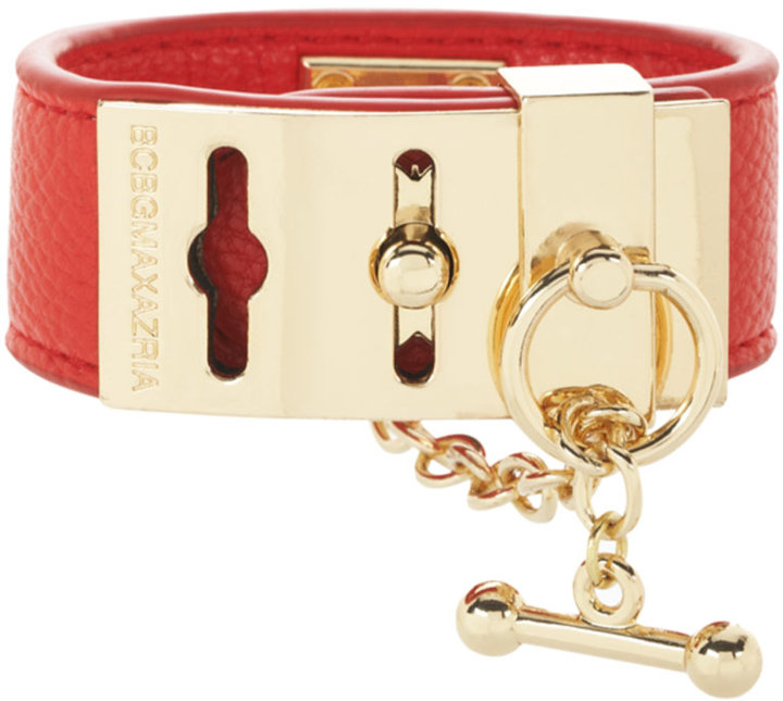 BCBGMAXAZRIA Leather Toggle Bracelet