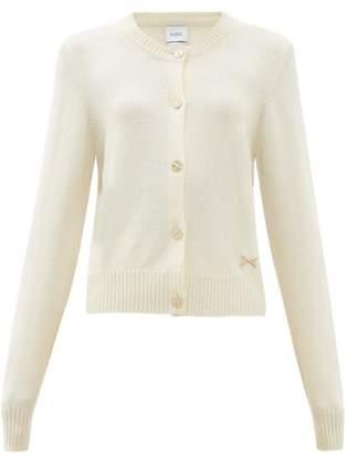Barrie Logo Plaque Cashmere Cardigan - Womens - Ivory