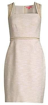 Lilly Pulitzer Women's Dana Embellished Metallic Sheath Dress