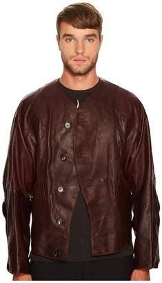 Vivienne Westwood Pourpoint Scarred Leather Jacket Men's Coat