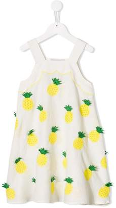 Stella McCartney pineapple embroidered dress
