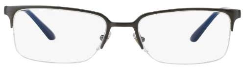 Versace Semi-Rimless Eyeglass Frames 1219 54mm Gunmetal/Royal