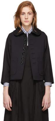 Comme des Garcons Black Wool Round Collar Jacket