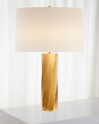 AERIN Leitha Large Alabaster Table Lamp with Linen Shade