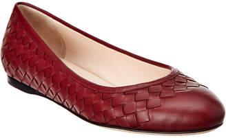 Bottega Veneta Peggy Intrecciato Nappa Leather Ballet Flat