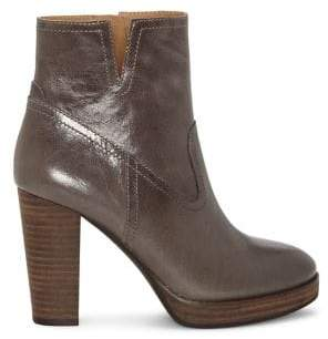 Lucky Brand Quintei Distressed Leather Heeled Booties