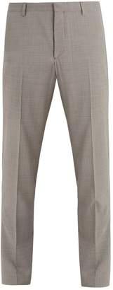 Prada Micro-check wool trousers