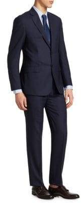 Giorgio Armani Printed Wool Suit
