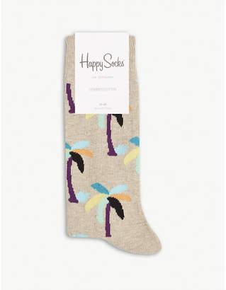 Happy Socks Palm tree cotton-blend socks