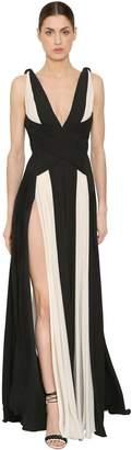 ZUHAIR MURAD Two Tone Silk Georgette Dress