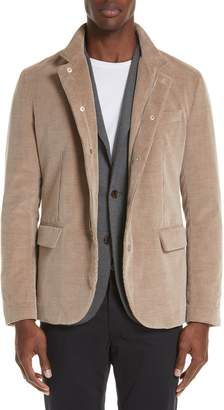 Eleventy Trim Fit Cotton & Cashmere Corduroy Sport Coat