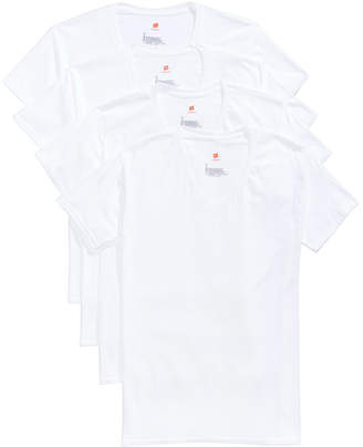 Hanes Men's 4-Pk. Platinum Comfort Fit V-Neck T-Shirts