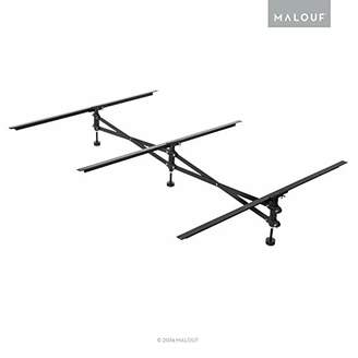 Malouf Structures Adjustable Center Support System for Bed to Replace Wooden Bed Slats - Universal Size Adjusts from Full to King - Adjustable Leg Height