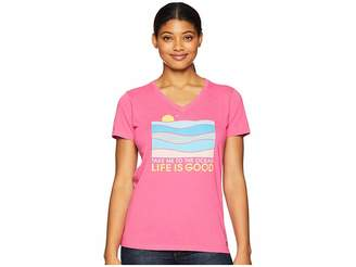 Life is Good Take Me To The Ocean Crusher Vee T-Shirt