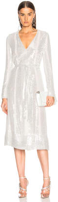 Sally Lapointe Sequin Belted Dress