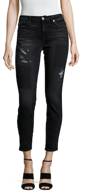 7 For All MankindPatched Skinny Jean