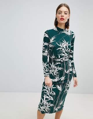 Warehouse Barbican Collection Climbing Bamboo Midi Dress