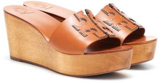 1272fec305db99 Tory Burch Ines 80mm leather wedge sandals