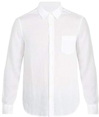 120% Lino Patch Pocket Linen Shirt - Mens - White