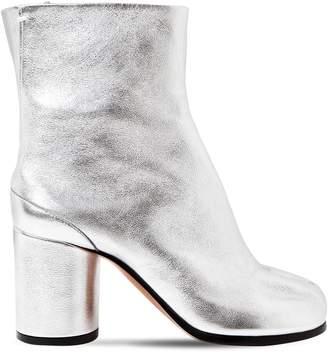 77e5084702a Maison Margiela 80mm Tabi Metallic Leather Ankle Boots