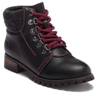Chinese Laundry Terek Knit Cuff Lace-Up Boot