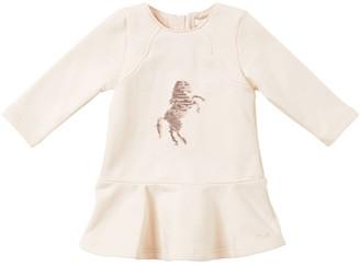 Chloé EMBELLISHED COTTON SWEATSHIRT DRESS