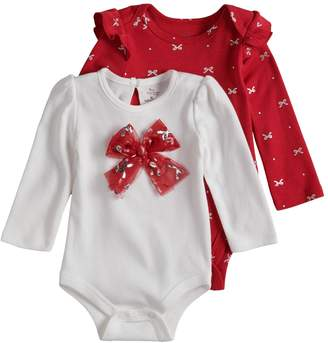 Baby Starters Baby Girl 2-pack Holiday Bodysuits
