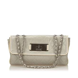 Chanel Grey Leather Handbag