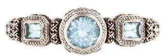John Hardy Blue Topaz & Diamond Cuff