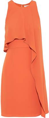 Halston Layered Crepe Mini Dress