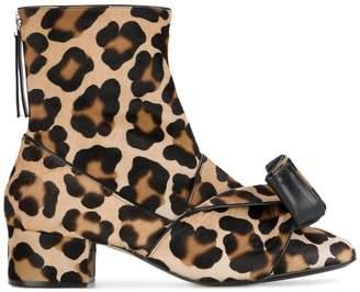 3bd83185a6 No.21 leopard print ankle boots