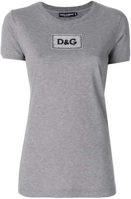 Dolce & Gabbana sequinned logo patch T-shirt