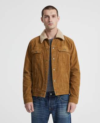 AG Jeans The Lined Shearling Dart Jacket
