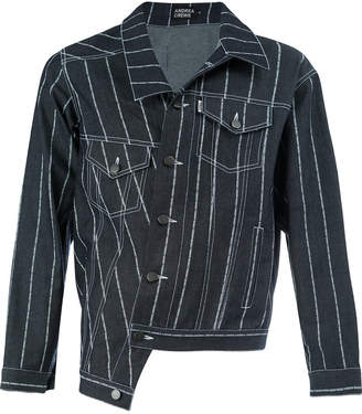 Andrea Crews striped denim jacket