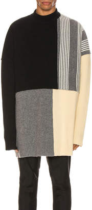 Jil Sander Panels Crewneck Sweater in Open Miscellaneous | FWRD