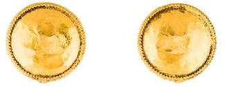 Chanel Hammered Clip-On Earrings