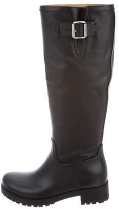 Maison Margiela Rubber Knee-High Boots Black Rubber Knee-High Boots