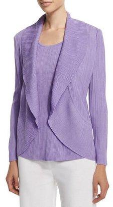 Misook Textured Cascade Jacket, Wisteria, Plus Size $438 thestylecure.com